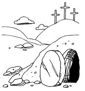 The open tomb clipart